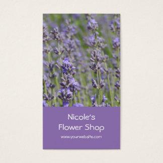 Fleuriste - gisements de lavande cartes de visite
