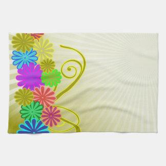 fleurit la serviette de cuisine de MoJo d'Américai Serviettes Éponge