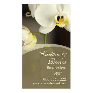 Fleurs 2 d'orchidée carte de visite standard