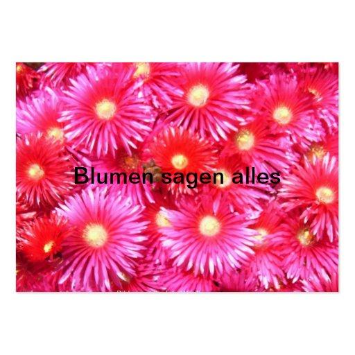 Fleurs à midi modèle de carte de visite