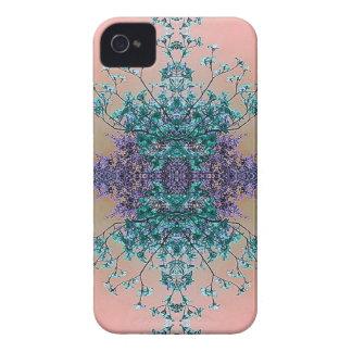 Fleurs abstraites artistiques assez en pastel de coque iPhone 4 Case-Mate