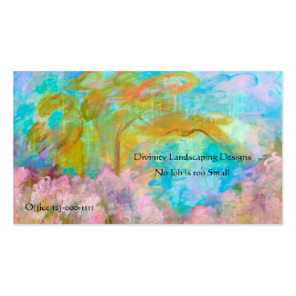 Fleurs abstraites d'Aqua de rose d'arbre d'art de Carte De Visite Standard