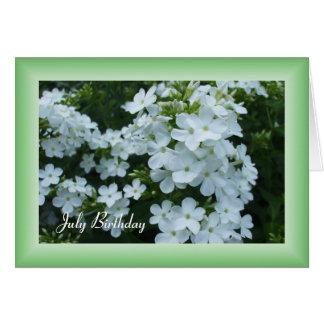 Fleurs assez blanches carte de vœux