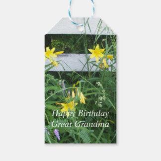 Fleurs assez jaunes étiquettes-cadeau