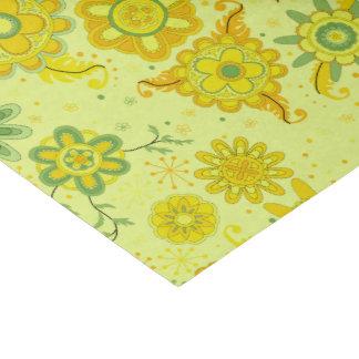 Fleurs assez jaunes papier mousseline