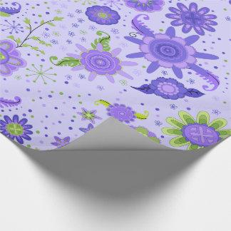Fleurs assez pourpres papier cadeau