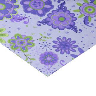 Fleurs assez pourpres papier mousseline