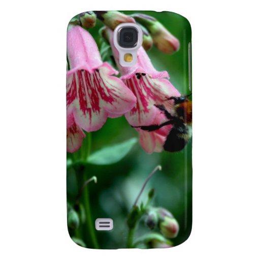 Fleurs avec des abeilles