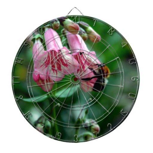 Fleurs avec des abeilles jeux de fléchettes