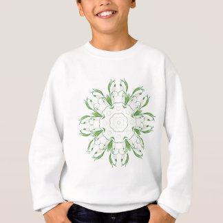 Fleurs blanches 3 de perce-neige sweatshirt