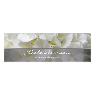 fleurs blanches - dessinateur d'intérieurs carte de visite petit format