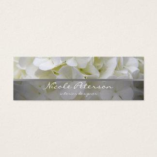 fleurs blanches - dessinateur d'intérieurs mini carte de visite