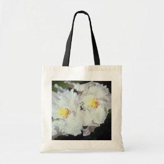 fleurs blanches d'odontioda d'orchidée sacs de toile