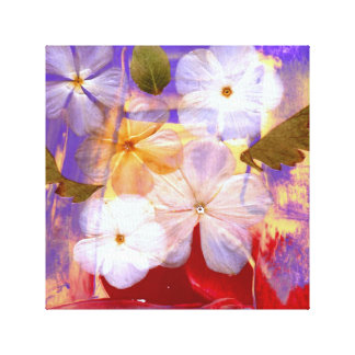Fleurs blanches et lavande - copie d'art sur la toiles