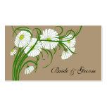 Fleurs blanches vintages de marguerite de Gerber é Cartes De Visite Personnelles
