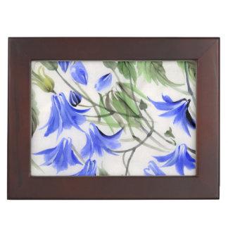 Fleurs bleues boîtes à souvenirs