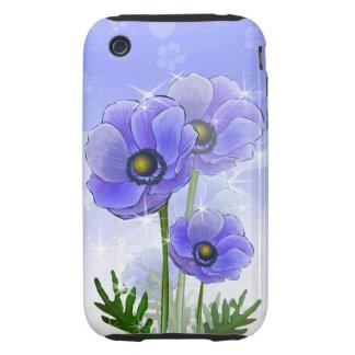 Fleurs bleues d anémone