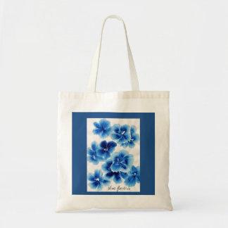 Fleurs bleues sac en toile
