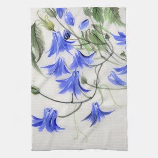Fleurs bleues serviettes éponge