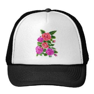 Fleurs colorées 4 casquettes de camionneur