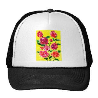 Fleurs colorées 5 casquettes de camionneur