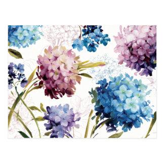 Fleurs colorées de ressort carte postale