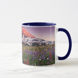Fleurs colorées en parc national plus pluvieux mug