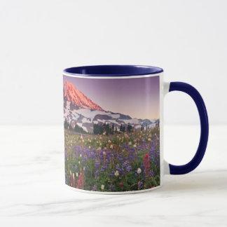 Fleurs colorées en parc national plus pluvieux tasses