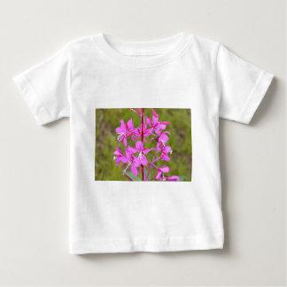 Fleurs d'Alaska roses de Fireweed en fleur T-shirt Pour Bébé