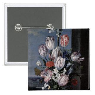 Fleurs dans un vase en cristal, 1652 badges