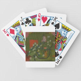 Fleurs dans un vaseie. jeu de cartes