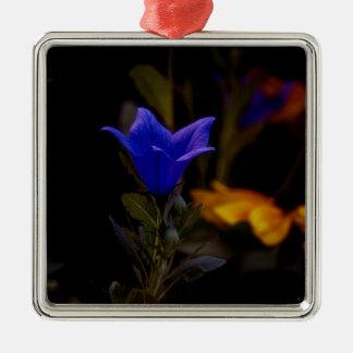 Fleurs de ballon ornement carré argenté