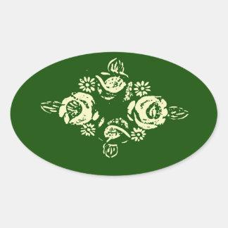 Fleurs de canal dans les autocollants verts