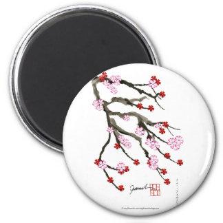 fleurs de cerisier 10 Fernandes élégant Magnet Rond 8 Cm
