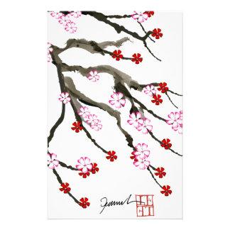 fleurs de cerisier 10 Fernandes élégant Papier À Lettre Personnalisé
