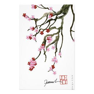fleurs de cerisier 12 Fernandes élégant Papier À Lettre Personnalisé