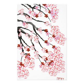 Fleurs de cerisier 18 Fernandes élégant Papier À Lettre Customisable