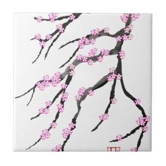 Fleurs de cerisier 20, Fernandes élégant de Sakura Petit Carreau Carré