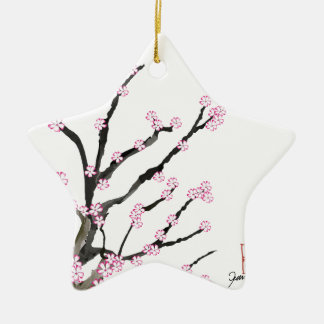 Fleurs de cerisier 23, Fernandes élégant de Sakura Ornement Étoile En Céramique