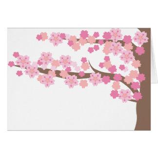 fleurs de cerisier 2 cartes de vœux
