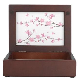 Fleurs de cerisier - arrière - plan transparent boîte à souvenirs