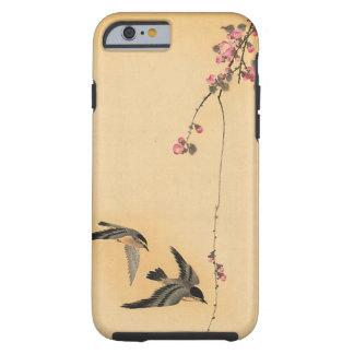 Fleurs de cerisier avec des oiseaux par Ohara Coque Tough iPhone 6