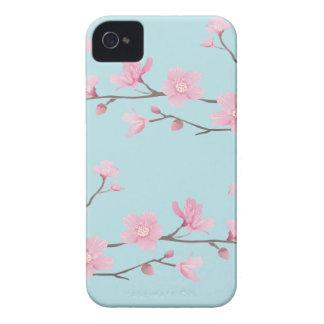 Fleurs de cerisier - bleu de ciel coques Case-Mate iPhone 4