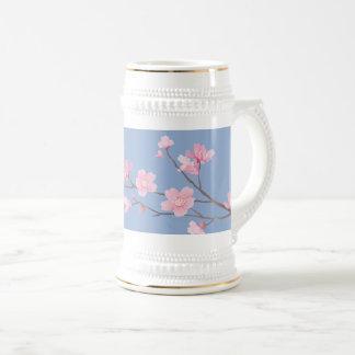 Fleurs de cerisier - bleu de sérénité chope à bière
