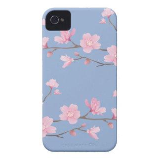Fleurs de cerisier - bleu de sérénité coque iPhone 4 Case-Mate