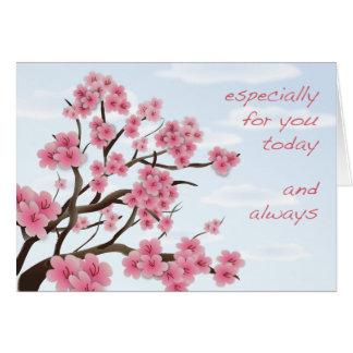 Fleurs de cerisier - carte de voeux