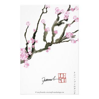 Fleurs de cerisier élégantes 8 de Fernandes Motifs Pour Papier À Lettre