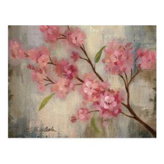 Fleurs de cerisier et branche carte postale