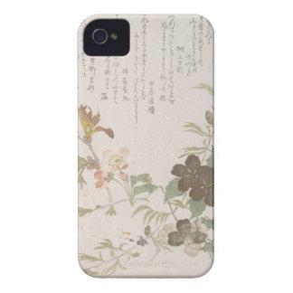 Fleurs de cerisier et fleurs de Yamabuki Coques Case-Mate iPhone 4