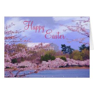 Fleurs de cerisier heureuses de Pâques Cartes